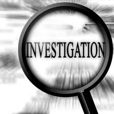 Magnifying Glass Over the Word Investigation