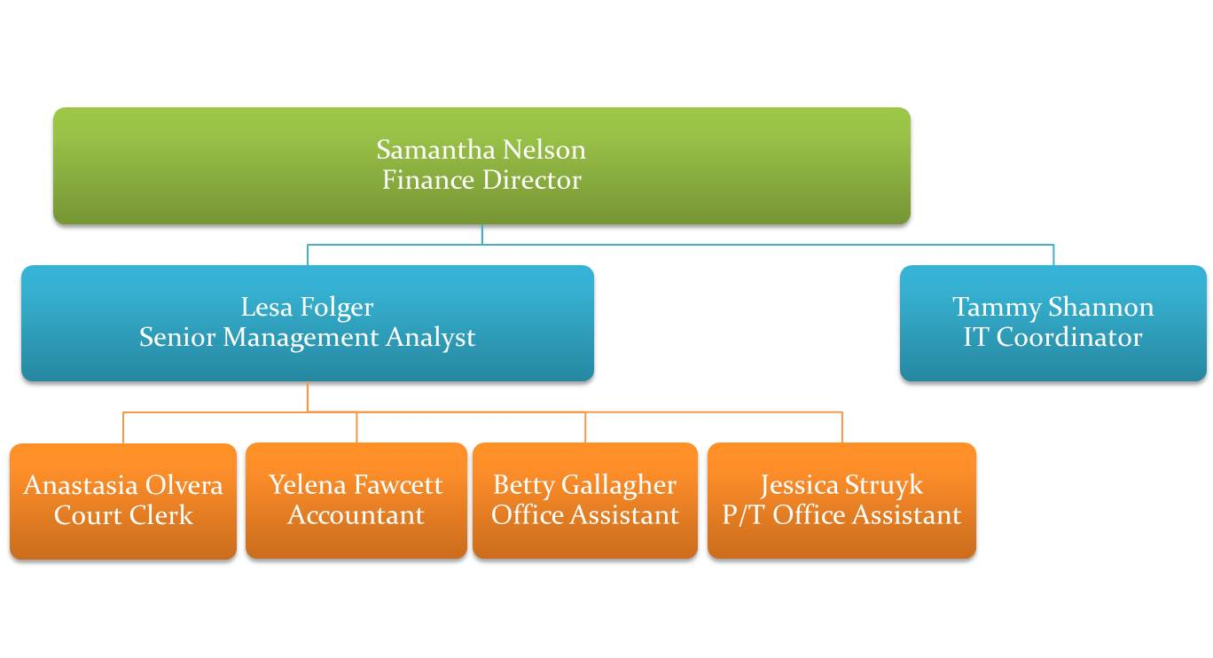 Finance department organizational chart